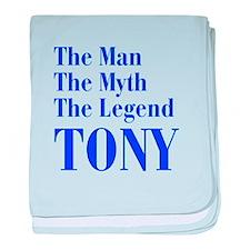 man-myth-legend-tony-bod-blue baby blanket