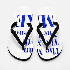 man-myth-legend-mike-bod-blue Flip Flops