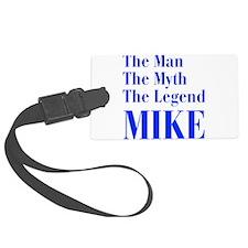 man-myth-legend-mike-bod-blue Luggage Tag