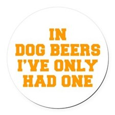 in-dog-beers-FRESH-ORANGE Round Car Magnet