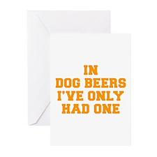 in-dog-beers-FRESH-ORANGE Greeting Cards (Pk of 20