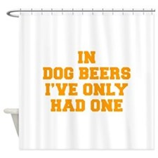 in-dog-beers-FRESH-ORANGE Shower Curtain