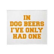in-dog-beers-FRESH-ORANGE Throw Blanket