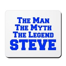 man-myth-legend-steve-fresh-blue-2 Mousepad