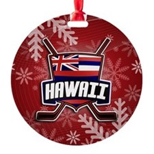 Hawaii Ice Hockey Flag Logo Ornament
