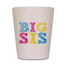 Multi-Colored Big Sis Shot Glass
