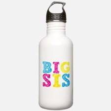 Multi-Colored Big Sis Sports Water Bottle
