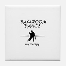 Ballroom Dance my therapy designs Tile Coaster
