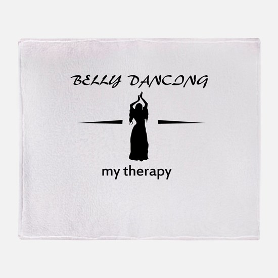 Belly Dancing my therapy designs Throw Blanket