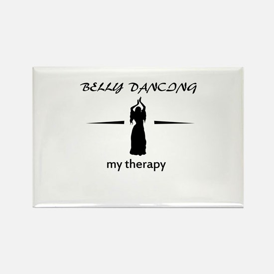 Belly Dancing my therapy designs Rectangle Magnet