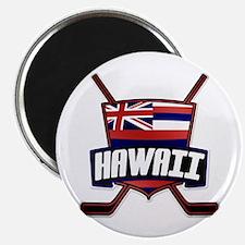 Hawaii Ice Hockey Flag Logo Magnet