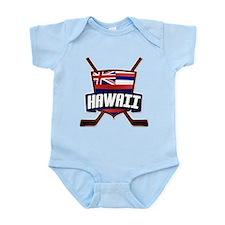 Hawaii Ice Hockey Flag Logo Body Suit