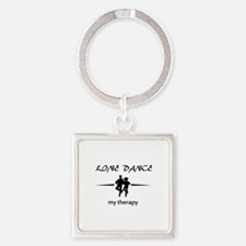 Line dance my therapy designs Square Keychain