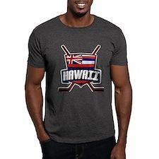 Hawaii Ice Hockey Flag Logo T-Shirt