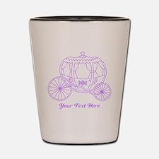Purple Carriage, Custom Text. Shot Glass