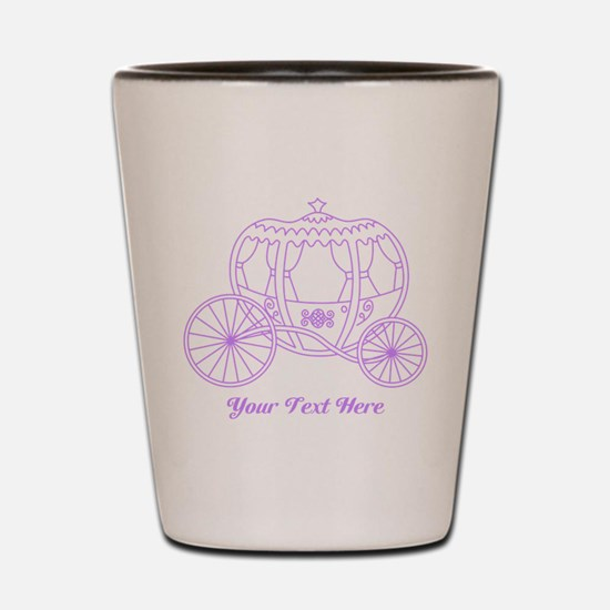 Purple Carriage, Custom Text. Shot Glass