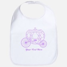 Purple Carriage, Custom Text. Bib
