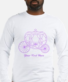 Purple Carriage, Custom Text. Long Sleeve T-Shirt