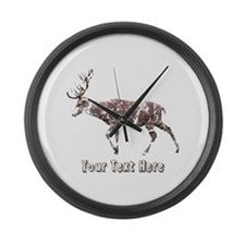 Grungy Style Deer Stag. Custom Text. Large Wall Cl