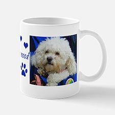 Dog Mug- Love is all you need white poodle