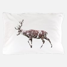 Grungy Style Deer Stag. Pillow Case