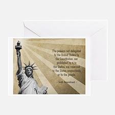 Tenth Amendment Greeting Card