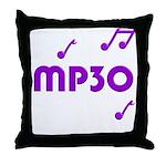 MP30, 30th, MP3 Throw Pillow