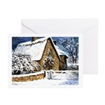 Farmhouse in the Snow Greeting Cards (Pk of 10