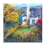 Doone Valley Cottage Tile Coaster