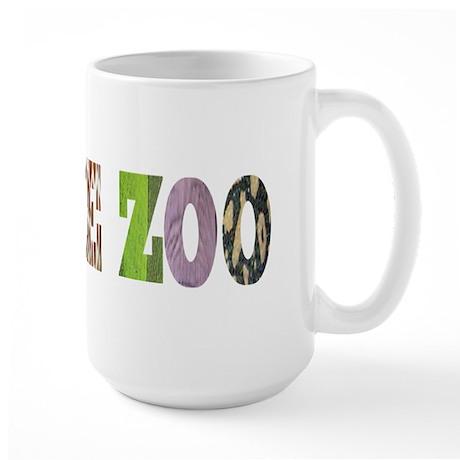 i love the zoo Large Mug
