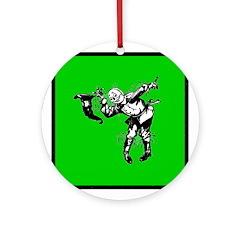 Scarecrow Ornament (Round)