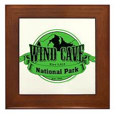 wind cave 3 Framed Tile