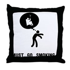 Pipe Smoking Throw Pillow