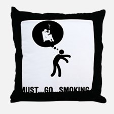 Pipe Smoking Throw Pillow