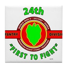"24th Infantry Division ""First to Fight"" Tile Coast"