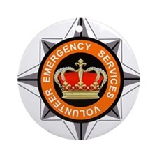 Emergency Service Volunteers Ornament (Round)