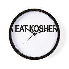 I EAT KOSHER Wall Clock