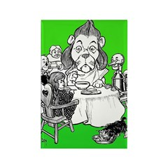 At the Dinner Table Rectangle Magnet (100 pack)