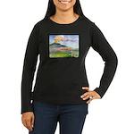 Mt Etna Women's Long Sleeve Dark T-Shirt