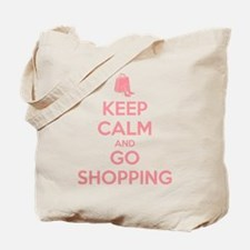 Keep Calm and Go Shopping Tote Bag