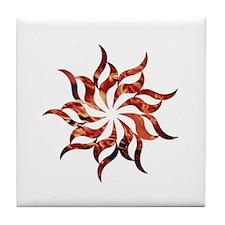 Mandala Flame Tile Coaster