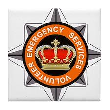 Emergency Service Volunteers Tile Coaster