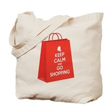 Keep calm and go shopping (bag2) Tote Bag