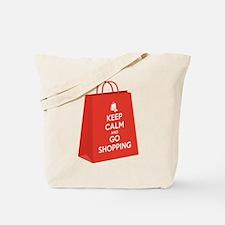 Keep calm and go shopping (bag2) Tote Bag