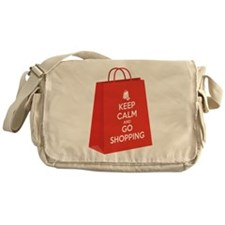 Keep calm and go shopping (bag2) Messenger Bag