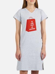 Keep calm and go shopping (bag2) Women's Nightshir