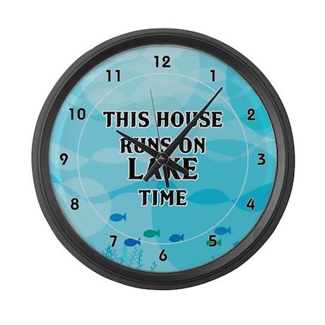 Lake Time Large Wall Clock