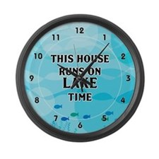Lake Time Large Wall Clock