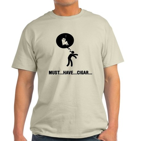 Cigar Smoking Light T-Shirt