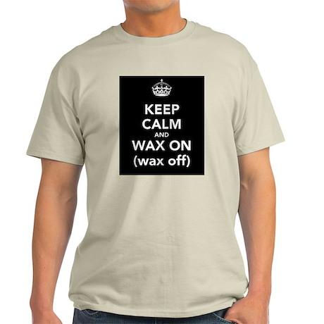 Keep Calm and Wax on (wax off) T Shirt Black T-Shi